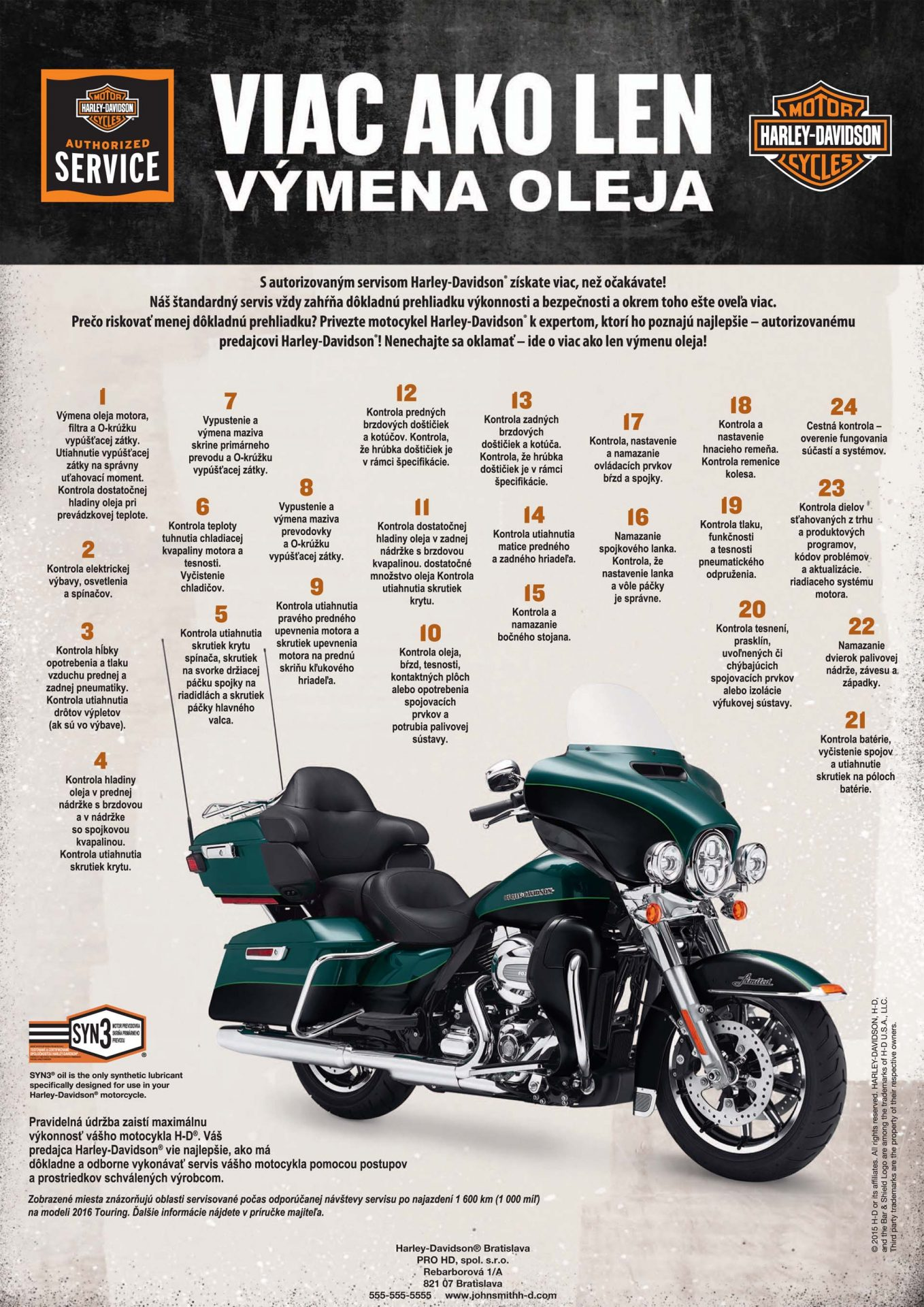 Servis motocyklov Harley-Davidson Bratislava